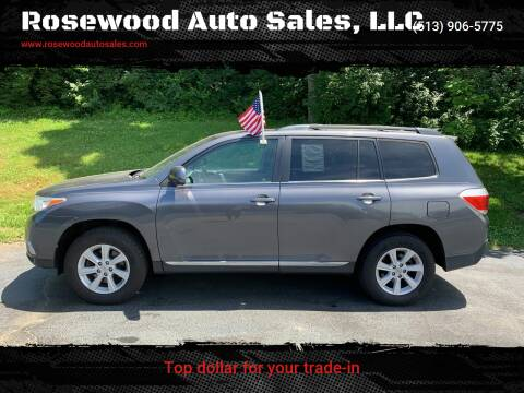 2012 Toyota Highlander for sale at Rosewood Auto Sales, LLC in Hamilton OH