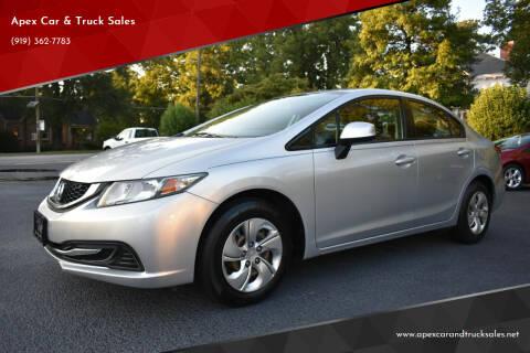 2013 Honda Civic for sale at Apex Car & Truck Sales in Apex NC