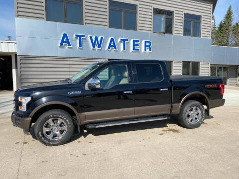2016 Ford F-150 for sale at Atwater Ford Inc in Atwater MN