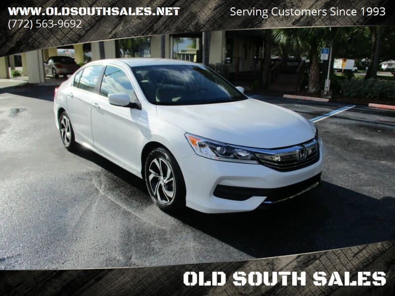 2016 Honda Accord for sale at OLD SOUTH SALES in Vero Beach FL