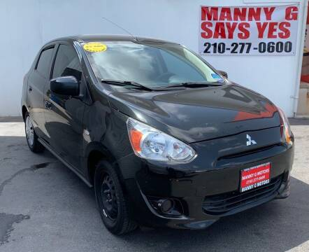 2014 Mitsubishi Mirage for sale at Manny G Motors in San Antonio TX