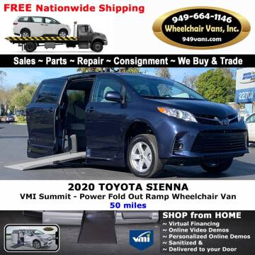 2020 Toyota Sienna for sale at Wheelchair Vans Inc - New and Used in Laguna Hills CA