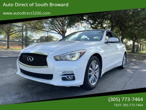 2014 Infiniti Q50 for sale at Auto Direct of South Broward in Miramar FL