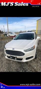 2014 Ford Fusion for sale at MJ'S Sales in O'Fallon MO