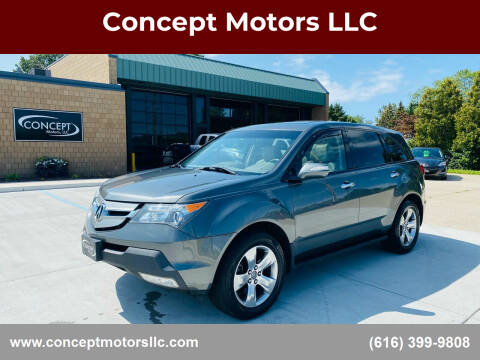 2008 Acura MDX for sale at Concept Motors LLC in Holland MI