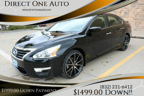 2015 Nissan Altima for sale at Direct One Auto in Houston TX