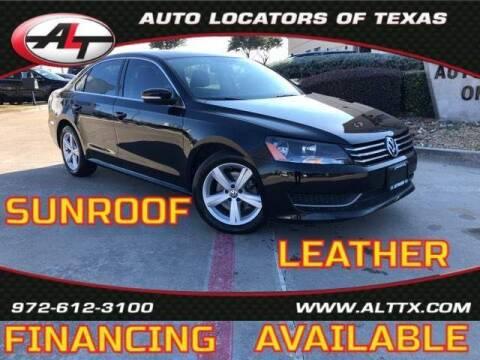 2013 Volkswagen Passat for sale at AUTO LOCATORS OF TEXAS in Plano TX
