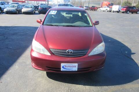 2004 Toyota Camry for sale at Burgess Motors Inc in Michigan City IN