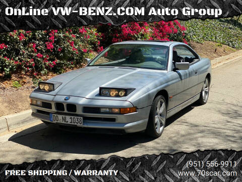 1997 BMW 8 Series for sale at OnLine VW-BENZ.COM Auto Group in Riverside CA