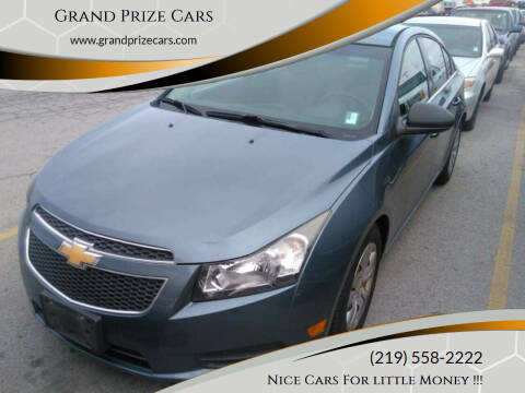 2012 Chevrolet Cruze for sale at Grand Prize Cars in Cedar Lake IN