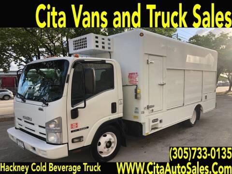 2013 ISUZU NQR  16FT BEVERAGE COLD PLATE TRUCK REEFER DIESEL for sale at Cita Auto Sales in Medley FL