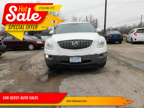 2008 Buick Enclave for sale at CAR QUEST AUTO SALES in Houston TX