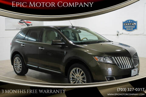 2011 Lincoln MKX for sale at Epic Motor Company in Chantilly VA