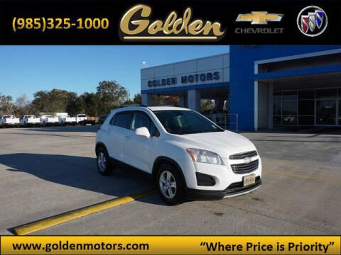 2015 Chevrolet Trax for sale at GOLDEN MOTORS in Cut Off LA
