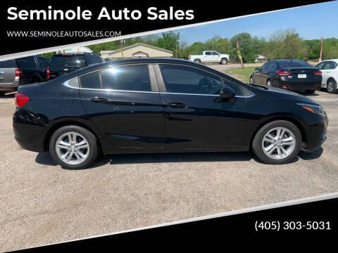 2016 Chevrolet Cruze for sale at Seminole Auto Sales in Seminole OK