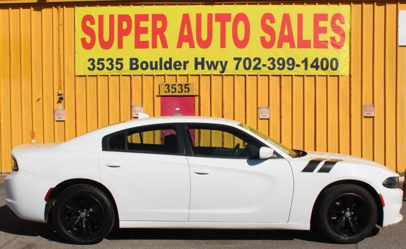 2016 Dodge Charger for sale at Super Auto Sales in Las Vegas NV