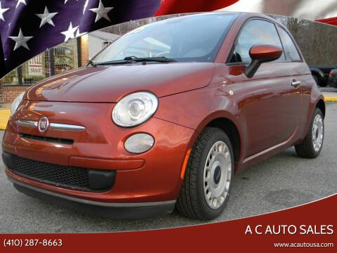 2015 FIAT 500 for sale at A C Auto Sales in Elkton MD