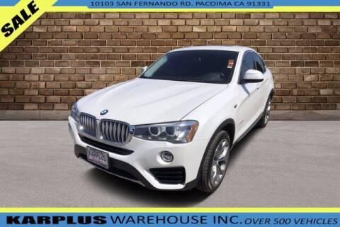 2016 BMW X4 for sale at Karplus Warehouse in Pacoima CA