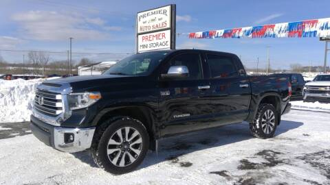 2018 Toyota Tundra for sale at Premier Auto Sales Inc. in Big Rapids MI