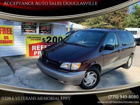 2000 Toyota Sienna for sale at Acceptance Auto Sales Douglasville in Douglasville GA