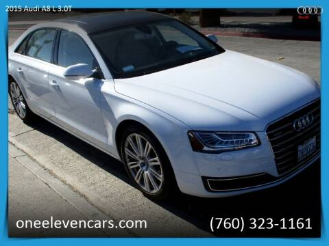 2015 Audi A8 L for sale at One Eleven Vintage Cars in Palm Springs CA