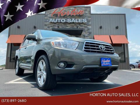 2010 Toyota Highlander for sale at HORTON AUTO SALES, LLC in Linn MO