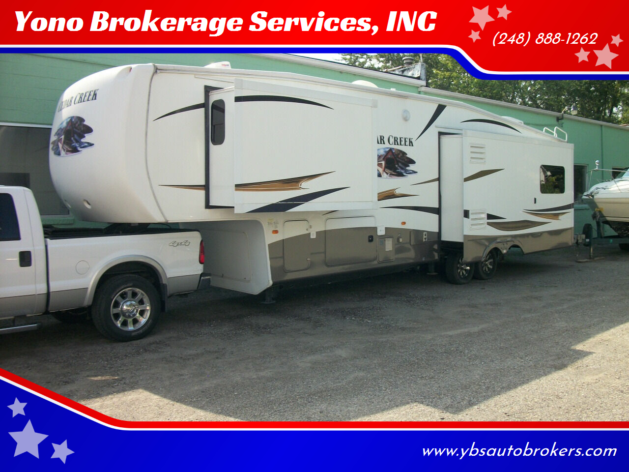 2012 FOREST RIVER CEDAR CREEK 36 CKTS 5TH WHEEL