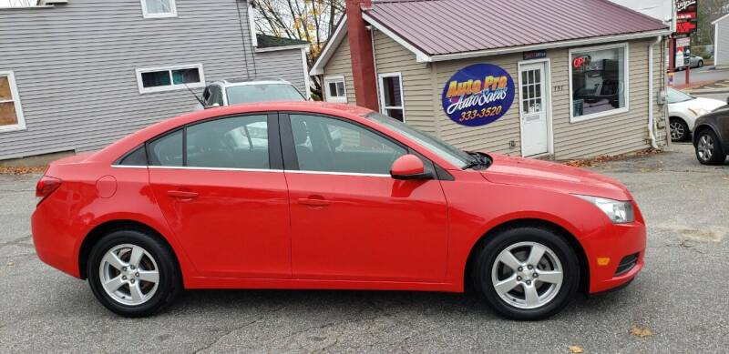 2014 Chevrolet Cruze for sale at Auto Pro Auto Sales-797 Sabattus St. in Lewiston ME