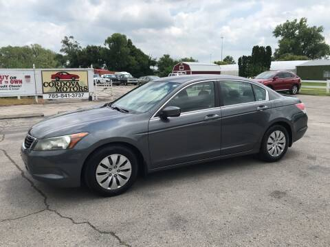 2008 Honda Accord for sale at Cordova Motors in Lawrence KS