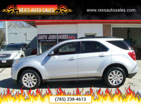 2011 Chevrolet Equinox for sale at Rex's Auto Sales in Junction City KS