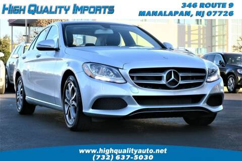 2017 Mercedes-Benz C-Class for sale at High Quality Imports in Manalapan NJ