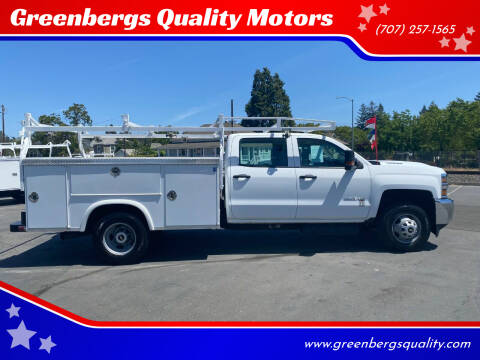 2017 Chevrolet Silverado 3500HD CC for sale at Greenbergs Quality Motors in Napa CA