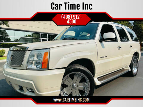 2004 Cadillac Escalade for sale at Car Time Inc in San Jose CA