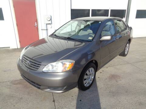 2004 Toyota Corolla for sale at Lewin Yount Auto Sales in Winchester VA