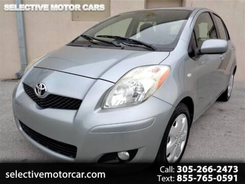 2009 Toyota Yaris for sale at Selective Motor Cars in Miami FL