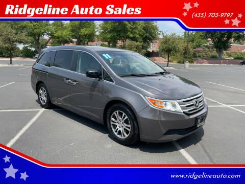 2011 Honda Odyssey for sale at Ridgeline Auto Sales in Saint George UT