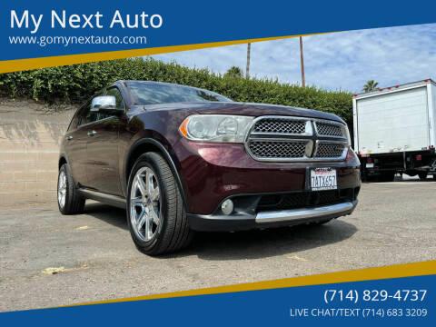 2012 Dodge Durango for sale at My Next Auto in Anaheim CA