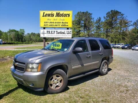 2007 Chevrolet Tahoe for sale at Lewis Motors LLC in Deridder LA