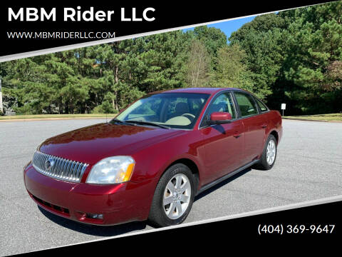 2005 Mercury Montego for sale at MBM Rider LLC in Alpharetta GA