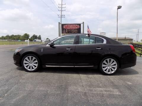 2013 Lincoln MKS for sale at MYLENBUSCH AUTO SOURCE in O'Fallon MO