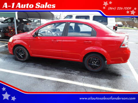 2009 Chevrolet Aveo for sale at A-1 Auto Sales in Anderson SC