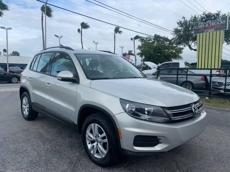 2015 Volkswagen Tiguan for sale at MIAMI FINE CARS & TRUCKS in Hialeah FL
