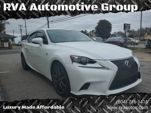 2014 Lexus IS 250 for sale at RVA Automotive Group in North Chesterfield VA