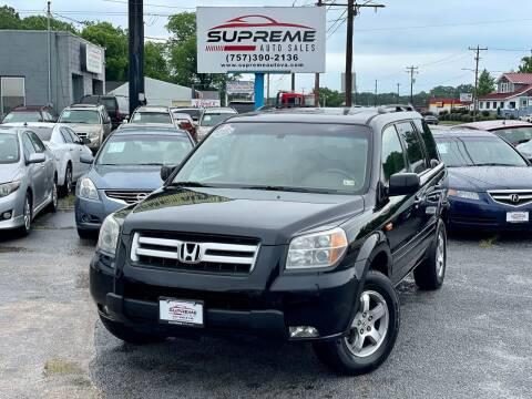 2006 Honda Pilot for sale at Supreme Auto Sales in Chesapeake VA