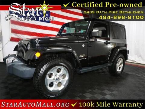 2014 Jeep Wrangler for sale at STAR AUTO MALL 512 in Bethlehem PA