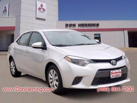 2016 Toyota Corolla for sale at DON HERRING MITSUBISHI in Irving TX