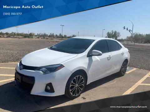 2016 Toyota Corolla for sale at Maricopa Auto Outlet in Maricopa AZ