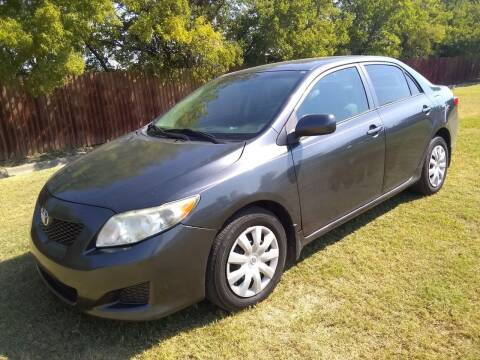 2009 Toyota Corolla for sale at El Jasho Motors in Grand Prairie TX