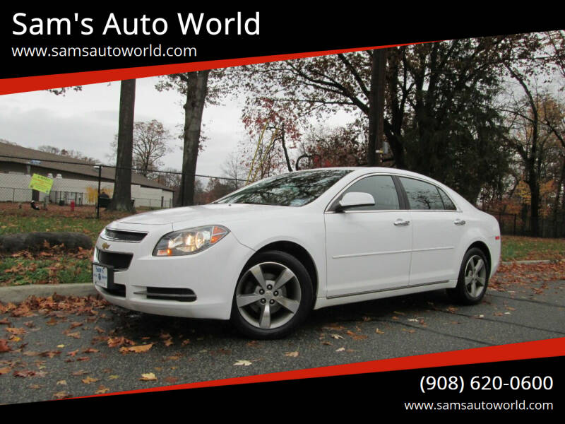 2012 Chevrolet Malibu for sale at Sam's Auto World in Roselle NJ