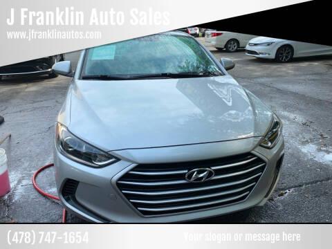 2017 Hyundai Elantra for sale at J Franklin Auto Sales in Macon GA
